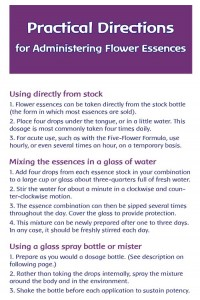 Directions for Using Flower Essences