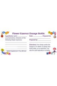 Dosage Bottle Labels, set of 120